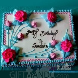 Square Vanilla Cake for Pokhara (GB18) Only