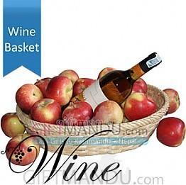 Sweet White Wine in Apple Basket