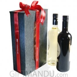 Wine Gift Box With Staff Pick Two Wine Bottles