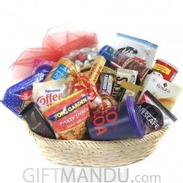 Holiday Special Basket - Cookies, Snacks, Chocolates, Coffee, Tea and More (20 Items)