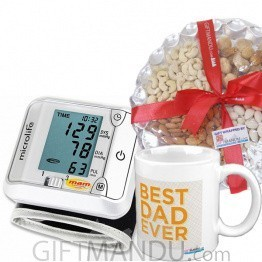 Blood Pressure Device With Dry Nuts Pack