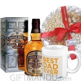 Chivas Regal Whiskey With Nuts Tray