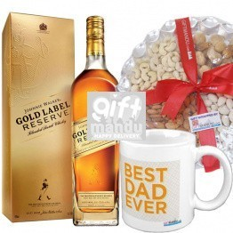 JW Gold Reserve With Nuts & Mug