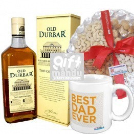 Old Durbar Whisky With Nuts & Mug