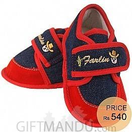 Farlin Unisex Baby Booties Shoe - Blue