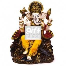 Attractive Bansuri Ganesh ji Statue - 8''