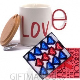 Gourmet Chocolate With Love Ceramic Coffee Mug