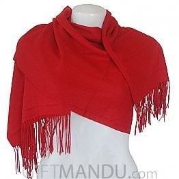 Women Elegant Soft Luxurious Scarf Wrap shawl - Red