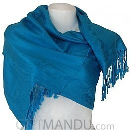 Women Elegant Soft Luxurious Scarf Wrap shawl - Blue