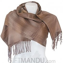 Women Soft Luxurious Scarf Wrap shawl - Light Brown