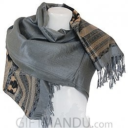 Women Soft Luxurious Scarf Wrap shawl - Grey