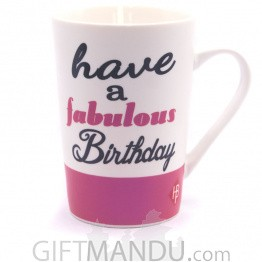 "Best Birthday Wish Printed Jumbo Mug - Pink (5"")"