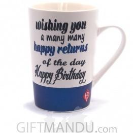 Best Birthday Wish Printed Jumbo Mug - Blue