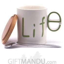 Life Printed Ceramic Coffee/Tea Mug