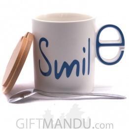 Smile Printed Ceramic Coffee/Tea Mug