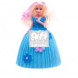 Beautiful Princess Blue Doll Piggy Bank