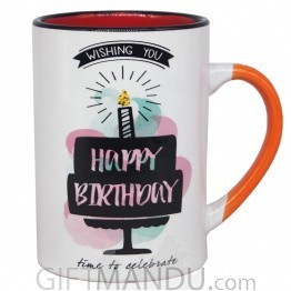 'Wishing You Happy Birthday' Coffee Mug 4.5''