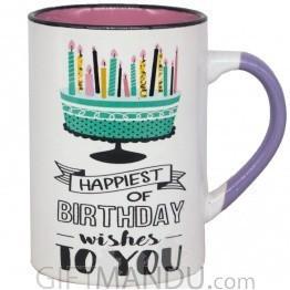 'Happiest of Birthday Wishes to You' Coffee Mug 4.5''