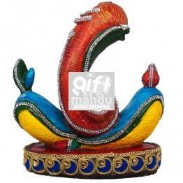 "Decorative Ganesh ji Trunk Statue - 7.5"""