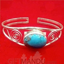 Silver Bracelet (Sky Blue)