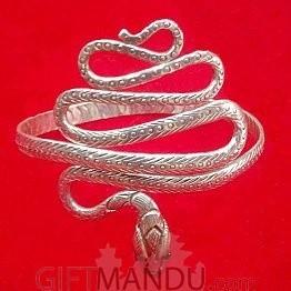 Silver Snake Design Bracelet