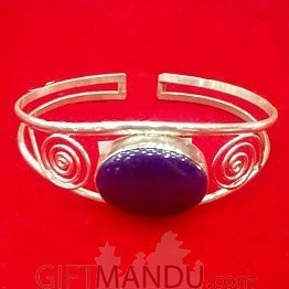 Silver Bracelet (Purple)