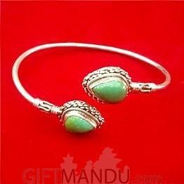 Silver Bracelet (Green)