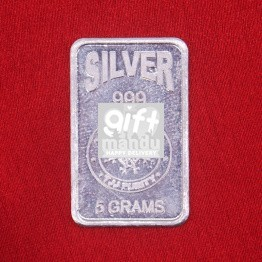 5 Gm Silver Pamp Suisse Lady Bar