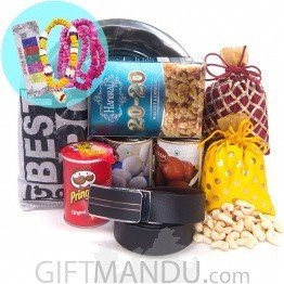 Mala Set, Belt & Best Bro T-shirt Package For Tihar