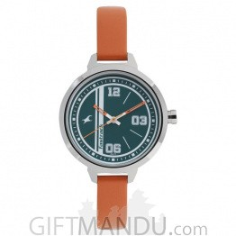Fastrack Green Dial Analog Watch for Women 6174SL03