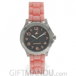 Fastrack Black Dial Analog Watch for Women - 68009PP04