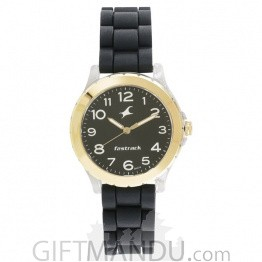 Fastrack Black Dial Analog Watch for Women - 68009PP05