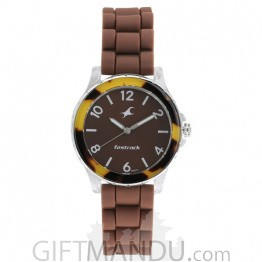 Fastrack Brown Dial Analog Watch for Women - 68009PP08