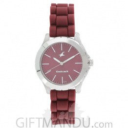 Fastrack Maroon Dial Analog Watch for Women - 68009PP06