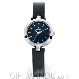 Titan Black Dial Analog Watch For Women - 2598SL01