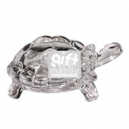 Crystal Clear Glass Tortoise - Small