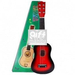 Acoustic 6 Strings Small Size Guitar For Kids (Red)
