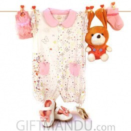 Beautiful Dress Package For Newly Born Baby - 5 sets