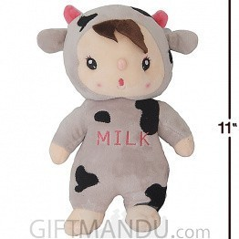 Cute and Lovely Baby Wearing Cow Costume