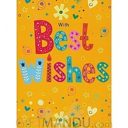 With Best Wishes - Greeting Card