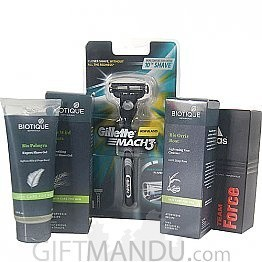 Biotique Gift Hamper For Him With Perfume & Shaver (5Items)