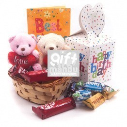 Miniatures Chocolates Birthday Love Package ( Free Card)