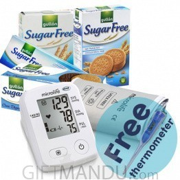 Microlife BP Monitor, Biscuits, Free Thermometer (BPA2)