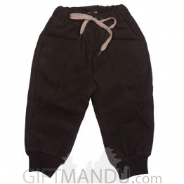 Brown Winter Trouser Pants For Kids (12-24 Months)