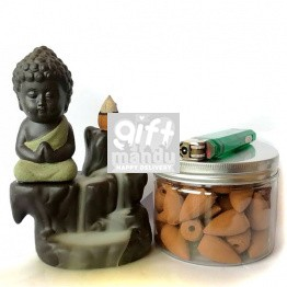 Buddha Home Decor Creative Smoke Backflow Incense Burner 5*3.5 inch
