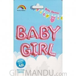 BABY GIRL Balloon for Baby Shower Party Decoration (Air or Helium)