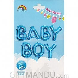 BABY BOY Balloon for Baby Shower Party Decoration (Air or Helium)