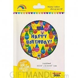 Happy Birthday Mcolour Balloon (Air or Helium)