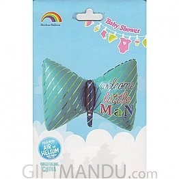 Bow Shape  Baby Shower Balloon For Baby Boy (Air or Helium)