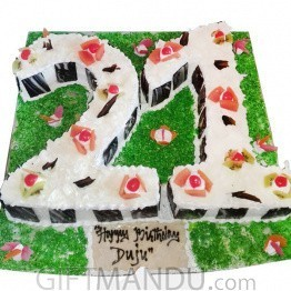 Birthday Delicious Number Cake (Choose Number)